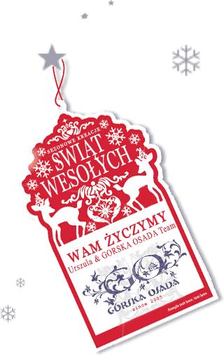 GÓRSKA OSADA - Kartka z Życzeniami Świątecznymi. Boże Narodzenie w domku w górach.