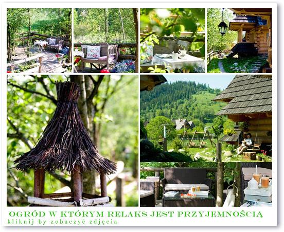 GÓRSKA OSADA /Wakacje - domki Zakopane - ogród wokół domków w górach
