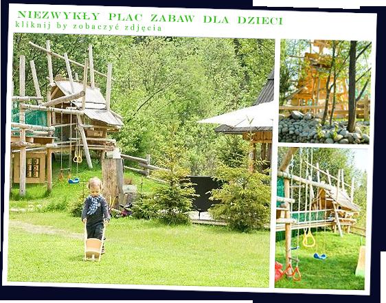 GÓRSKA OSADA /Wakacje - domki Zakopane - PLAC ZABAW DLA DZIECI obok domków w górach
